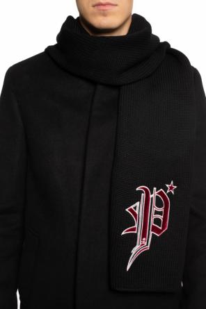 Logo-embroidered shawl od Philipp Plein
