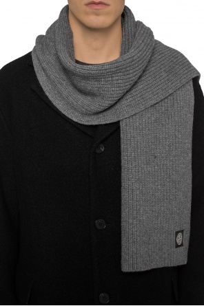 Patched braided scarf od Stone Island