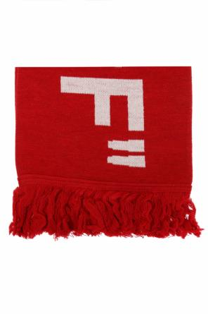 Scarf with embroidered logo od Off White