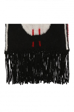 Logo-embroidered scarf od Off White