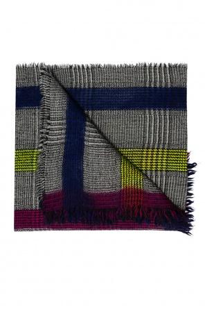 Fringed wool scarf od Etro