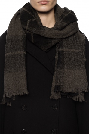 Scarf with a plaid motif od Rick Owens