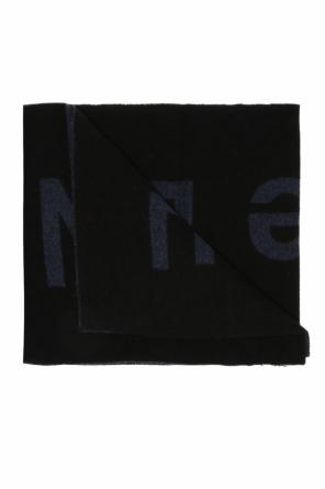 Scarf with embroidered inscription od Diesel