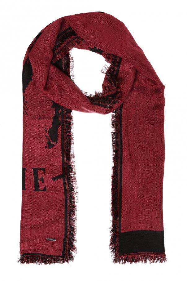 Diesel Embroidered logo scarf