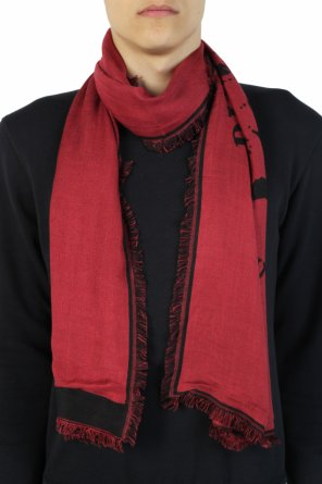 Embroidered logo scarf od Diesel