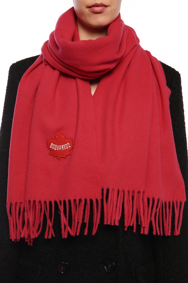 Wool scarf with logo od Dsquared2