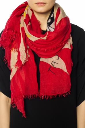 Logo scarf with embroidered pattern od Zadig & Voltaire