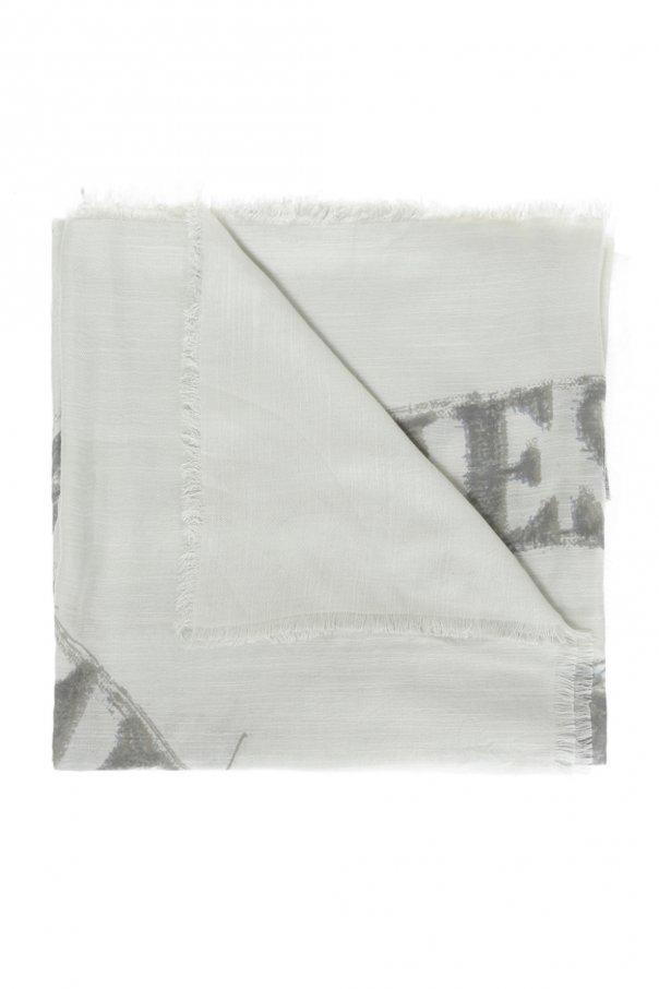 Diesel Embroidered logo shawl