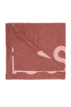Embroidered logo scarf od Acne
