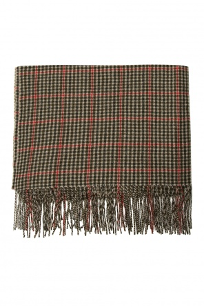 Checked cashmere scarf od Undercover