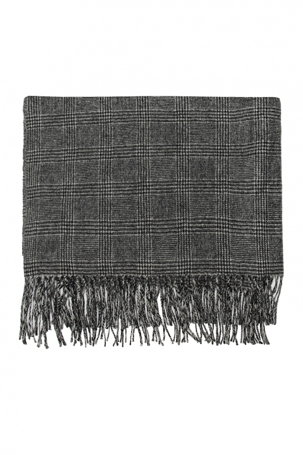 Undercover Checked wool scarf