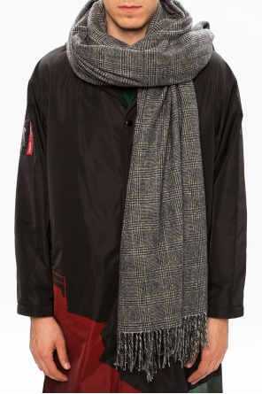 Checked wool scarf od Undercover