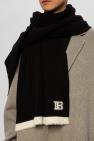 Balmain Wool scarf with logo