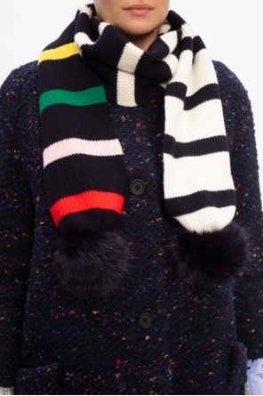 Wool scarf with pom-poms od Paul Smith