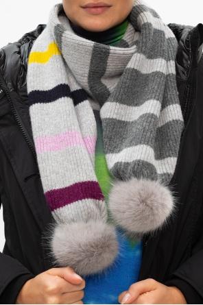 Wool scarf with pom-poms od Paul Smith