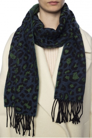 Patterned scarf with fringes od Paul Smith