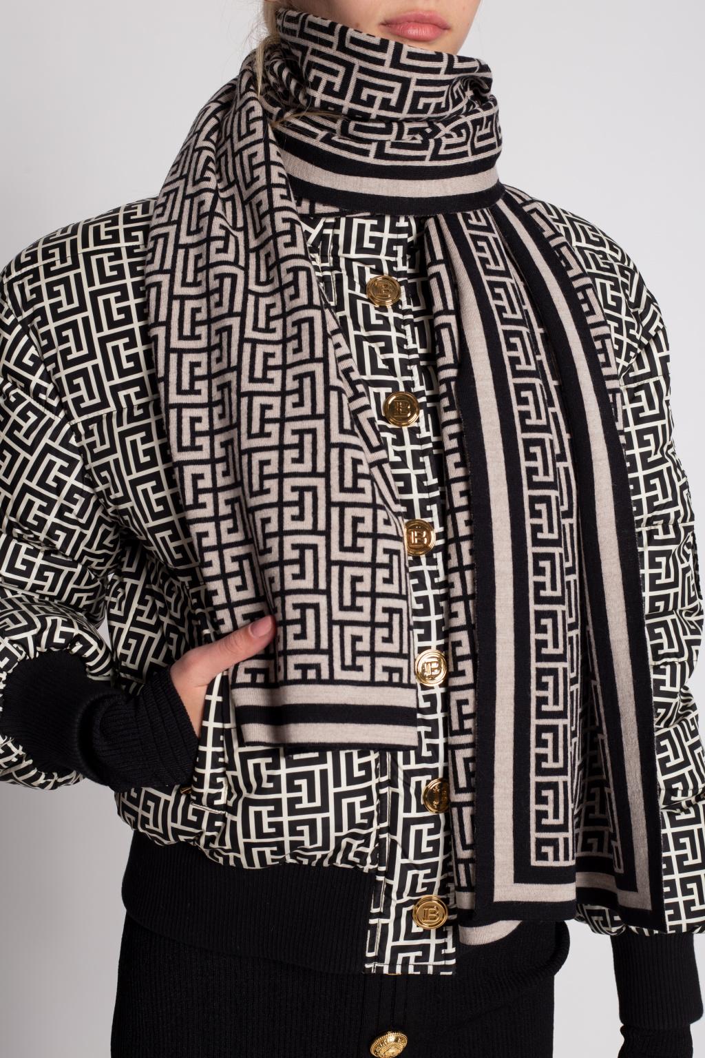 Balmain Patterned scarf