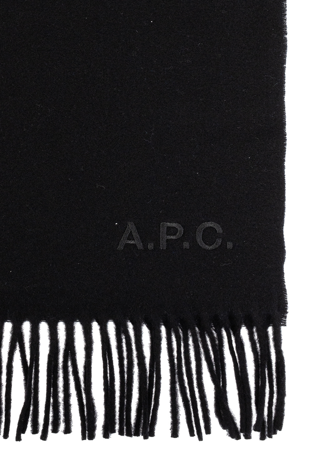 A.P.C. Logo-embroidered scarf