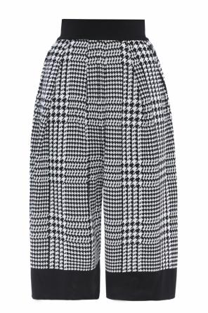 Patterned culotte trousers od Balmain
