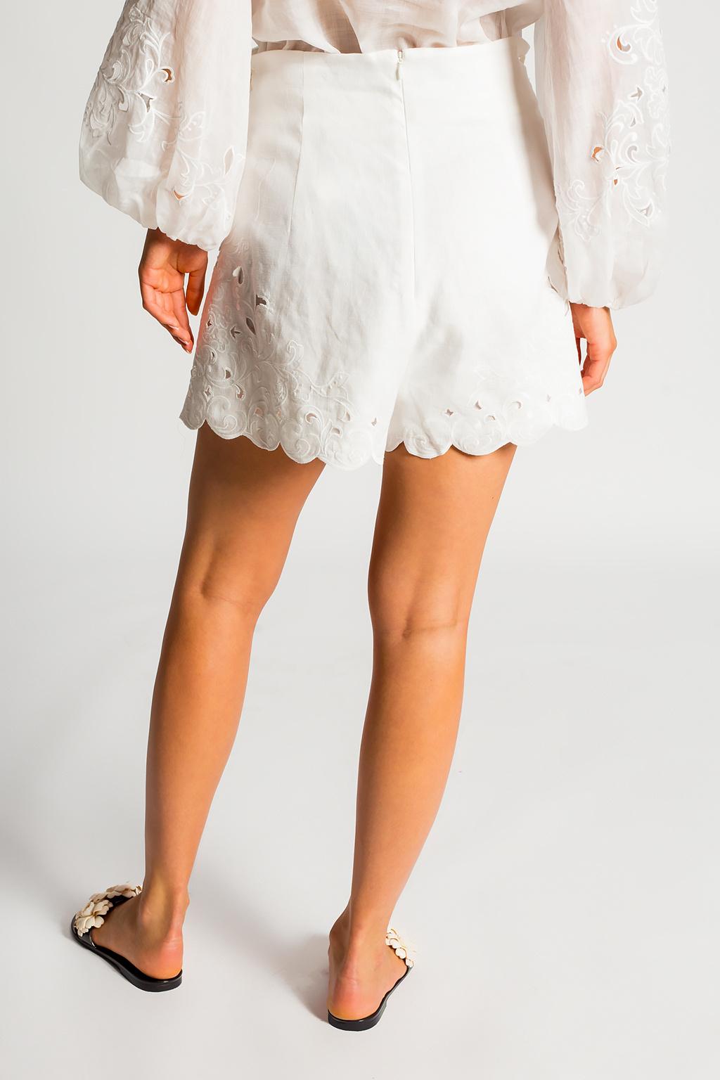 Zimmermann High-waisted shorts