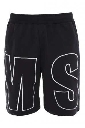 Logo-embroidered sweat shorts od MSGM