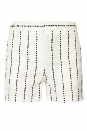Shorts with logo pattern od MSGM