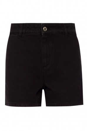 Denim shorts with logo od MSGM
