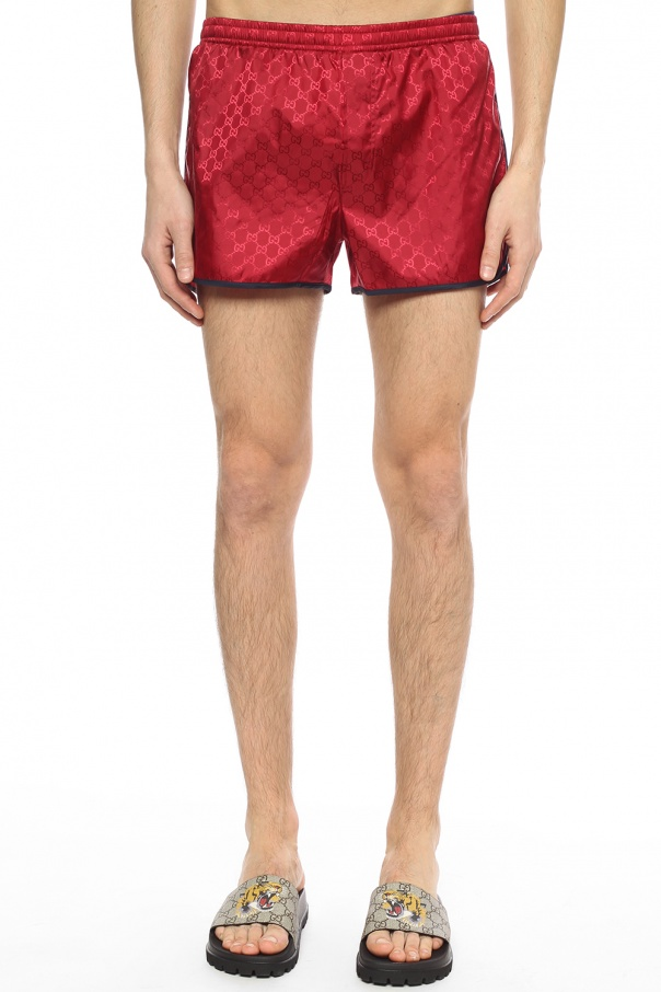 Bee-patched swim shorts od Gucci
