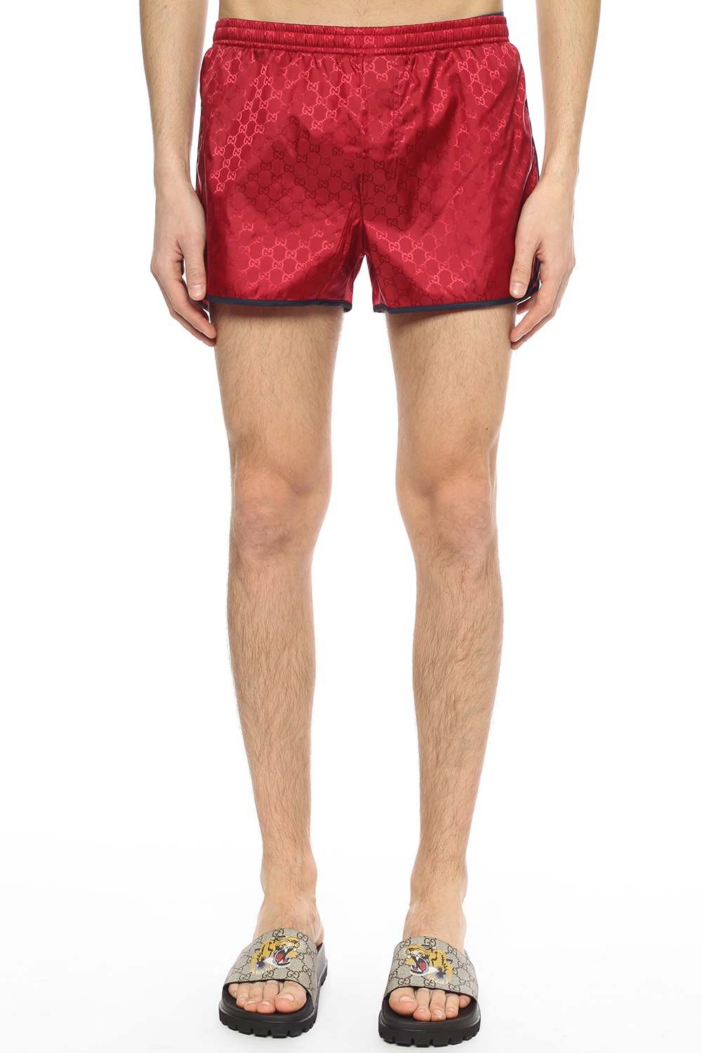 Gucci Bee-patched swim shorts
