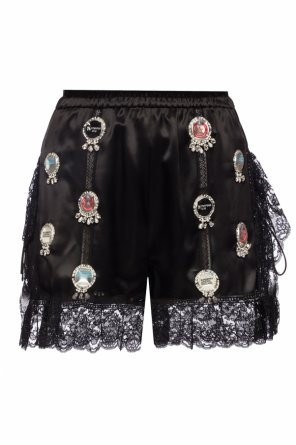 Lace-trimmed shorts od Burberry