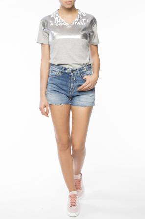 Frayed cuff shorts od Saint Laurent
