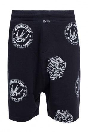 Logo-printed sweat shorts od McQ Alexander McQueen