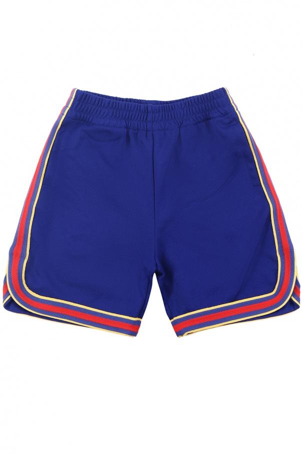 4b0be368a78 Shorts with decorative stripes Gucci Kids - Vitkac shop online