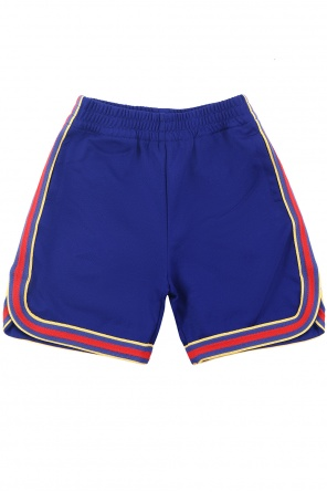 Shorts with decorative stripes od Gucci Kids