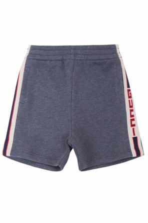 Side-stripe shorts od Gucci Kids