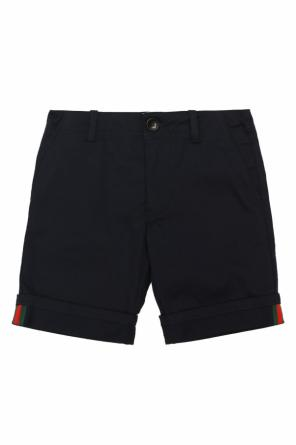 Rolled-up cuff shorts od Gucci Kids