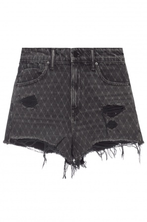 'bite' denim shorts od Alexander Wang