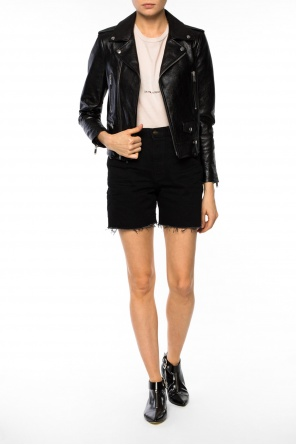 Shorts with frayed cuffs od Saint Laurent