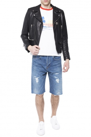 Distressed denim shorts od Saint Laurent