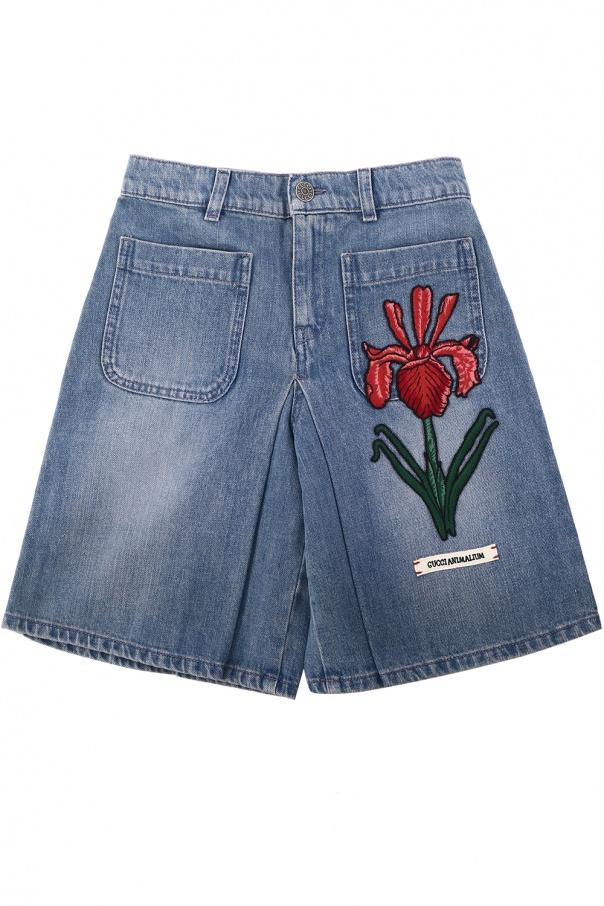 704c76cf081 Patched denim shorts Gucci Kids - Vitkac shop online