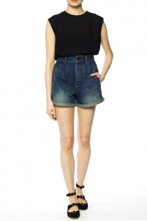Wide denim shorts od Saint Laurent