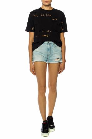 Denim shorts with holes od Stella McCartney