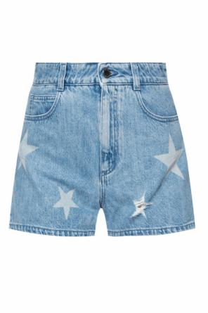 Patterned denim shorts od Stella McCartney
