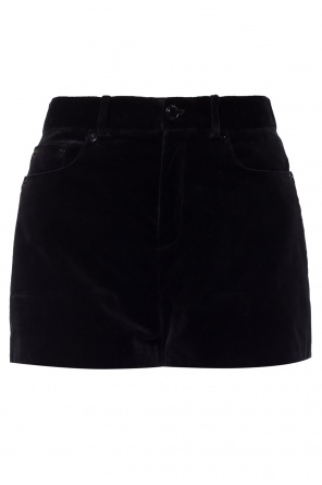 Velvet shorts with pockets od Saint Laurent