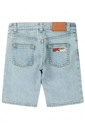 15463427cef0 Patched denim shorts od Gucci Kids ...