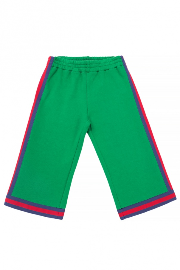 Gucci Kids Shorts with 'Web' stripes