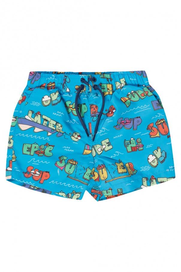 Stella McCartney Kids Printed swim shorts