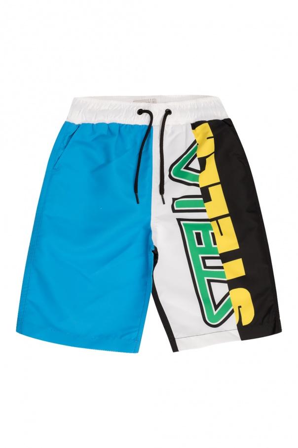 Stella McCartney Kids Swimming shorts with logo