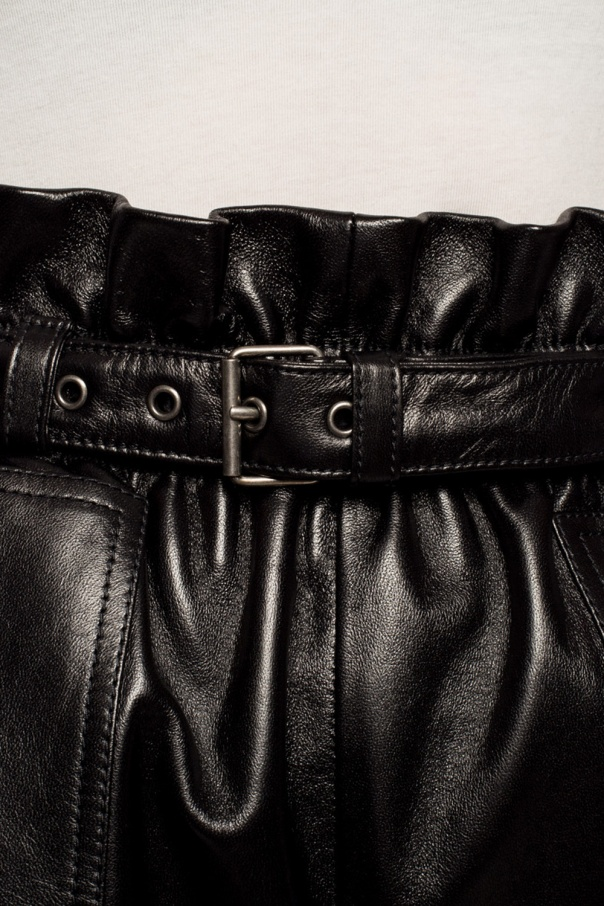Leather shorts od Saint Laurent