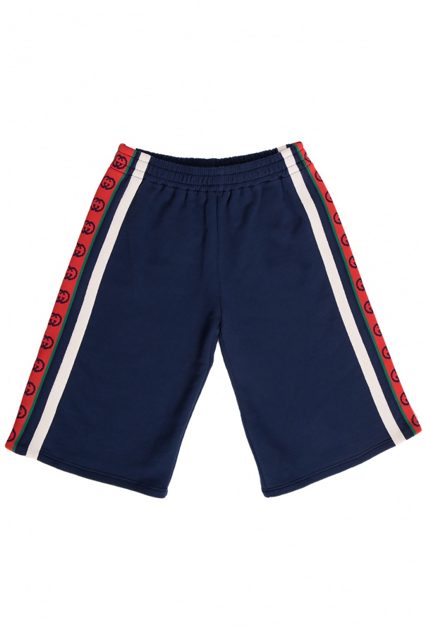 Gucci Kids Side stripe sweat shorts